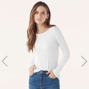 NWT Splendid White Long Sleeve Crew Neck T-shirt